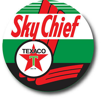 """Texaco Sky Chief Retro Style Large 14"""" Trash Can Decal Sticker Hot Rod Gasoline"""