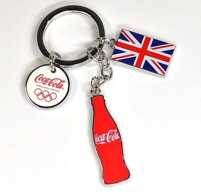 Coca-Cola Schlüsselanhänger Olympia 2012 Coke Union Jack Flasche M3 keychain
