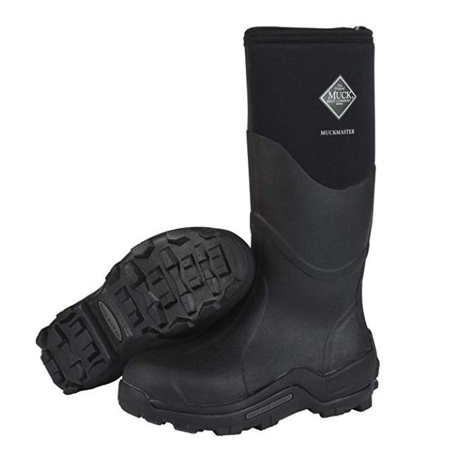 The Original MuckBoots Adult Muckmaster Hi-Cut Boot,Black,5