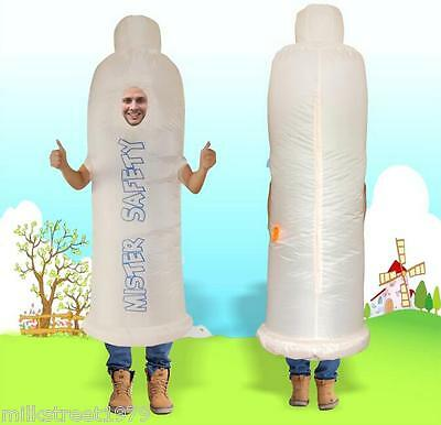 Halloween X-mas Costume Funny Condom Inflatable Suit Cosplay Gift - Condom Costume