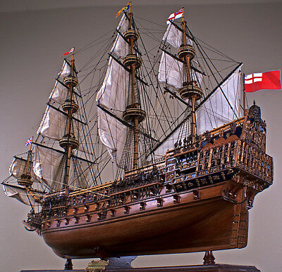 "SOVEREIGN OF THE SEAS 43"" wood model ship large scale sailing tall British boat"