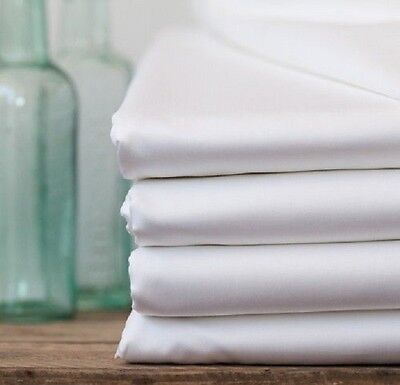 6 White Flat Sheet King 108x110 300 Thread Count Parcale ...