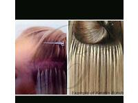 Hair extensions. Keratin bonds.