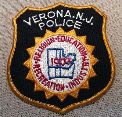 NJ Verona New Jersey Police Patch