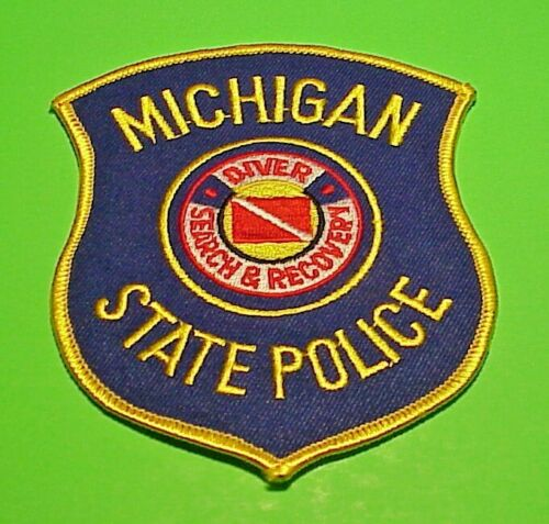 """MICHIGAN  SEARCH & RESCUE DIVER  STATE  4 1/2""""  POLICE PATCH  FREE SHIPPING!!!"""