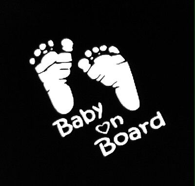 BABY ON BOARD (feet) vinyl decal for sale  Shipping to India