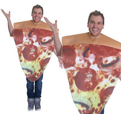 Adult Peperoni Pizza Slice Fancy Dress Costume Stag Do Hen Party Food Outfit