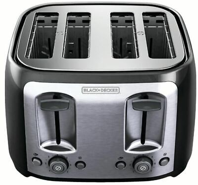 4-Slice Toaster with Extra-As much as possible Slots, Black/Silver, BLACK+DECKER TR1478BD
