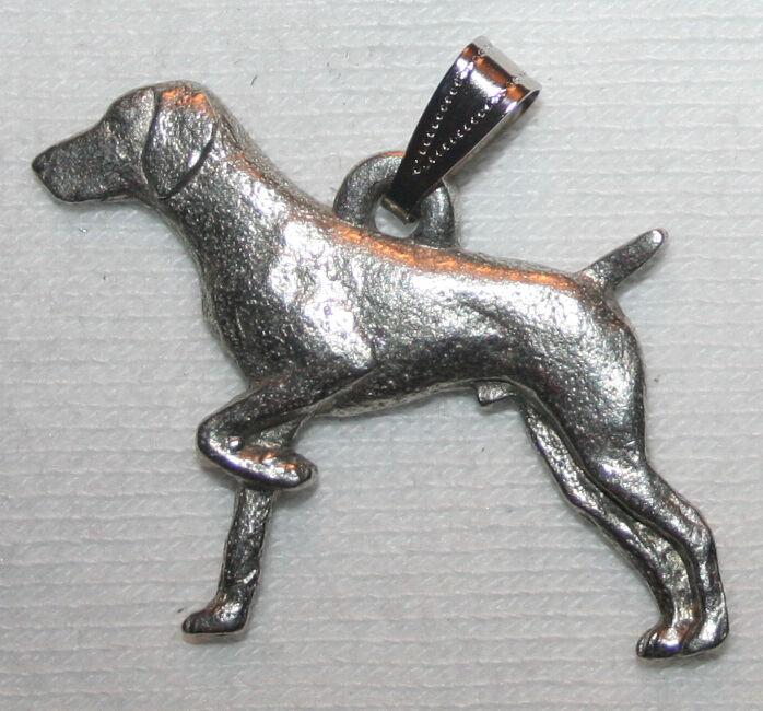 German Shorthair Pointer Dog Harris Fine Pewter Pendant Jewelry USA Made