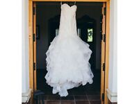 Justin Alexander Arizona 8795 wedding dress - UK size 10 in Ivory/Alabaster