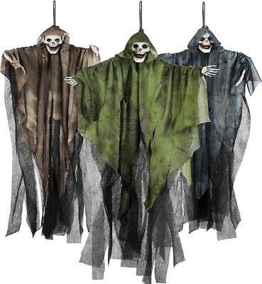 3 x SENSENMANN TOD Hängefigur Deko Halloween Horror (7203) Grusel Party Geist