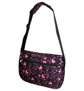 Large-Messenger-Sling-Body-Bag-Backpack-Black-Hearts