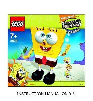 (Instructions) for LEGO 3826 - Spongebob - Build-A-Bob - INSTRUCTION MANUAL ONLY
