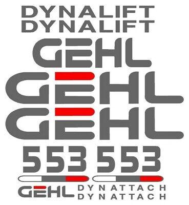 Gehl 553 Dynatach Dynalift Forklift Reach Boom Decal Set Sticker Emblem Kit Lk