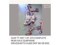 TT Quattro complete rear drivetrain assy