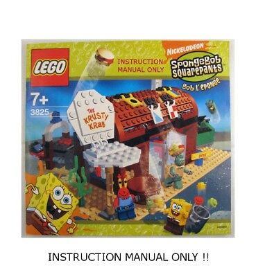 (Instructions) for LEGO 3825 - Spongebob Krusty Krab - INSTRUCTION MANUAL ONLY