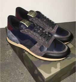 Men's / Women's Valentino Full Leather Camo Trainers Size's 5-11