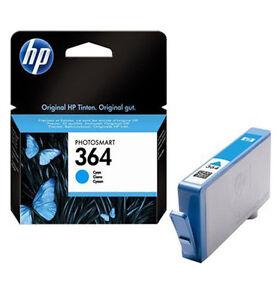 HP-Originale-364-Photosmart-D5460-D7560-Cartuccia-Di-Inchiostro-Ciano