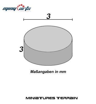 10 Imanes de Neodimio Redondo Ø 3 X 3MM Super para Modelismo...