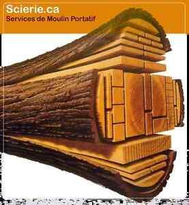 Scierie mobile Montréal : service de sciage de bois à domicile