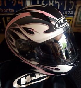 HJC size large women's full face motorcycle helmet