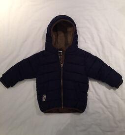 NEXT winter coat 9-12m Navy - Excellent condition
