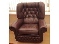 Vintage Chesterfield Armchair *SOLD STC*