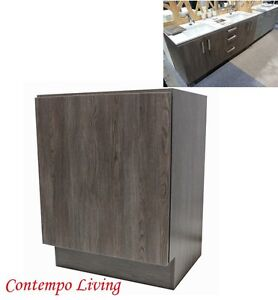 24-European-Style-Single-Door-Bathroom-Cabinet-Vanity-Walnut-Wood-Grain-Finish