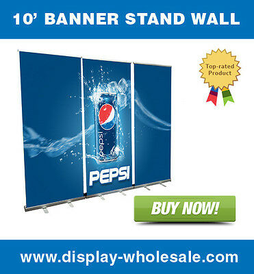 10 Retractable Roll Up Banner Stand Wall Free Vinyl Print