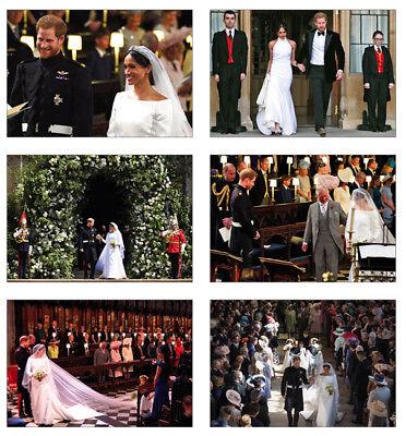 Royal Wedding Harry and Meghan Markle 6 Card Full Size POSTCARD Set #2
