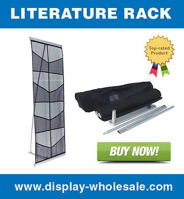 Eight-pocket Mesh Floor Literature Rack Brochure Magazine Display Holder