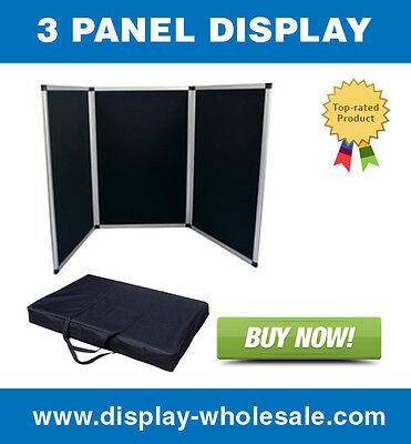 3 Panel Table Top Display
