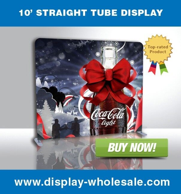 10ft Straight Tube Display with Print
