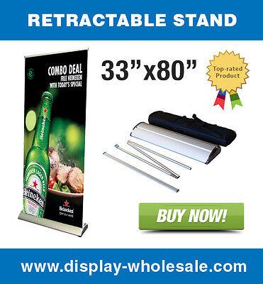 33 Premium Retractable Banner Stand