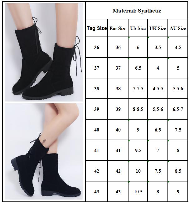 Damen Stiefeletten Schlupfstiefel Langschaft Boots Winterstiefel Flache Stiefel