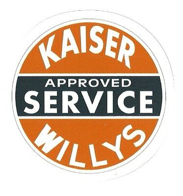 KAISER WILLYS AUTOMOBILE APPROVED SERVICE   Sticker Decal  for sale  Jefferson