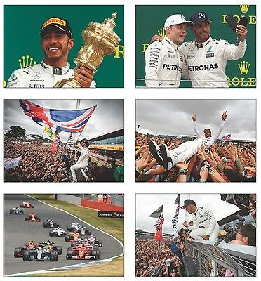Lewis Hamilton British GP Winner 2017 POSTCARD SET