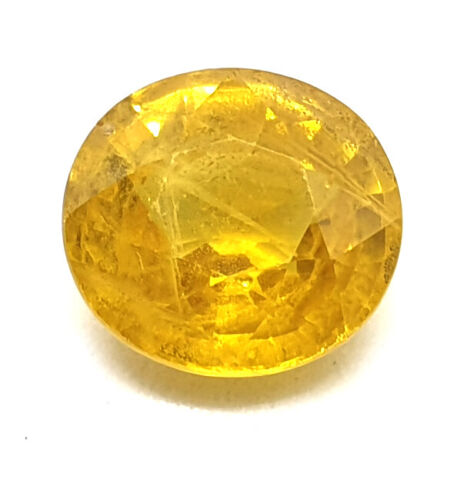 3.30 Ct Certified Natural Certified Yellow Sapphire Excellent Quality Gemstone