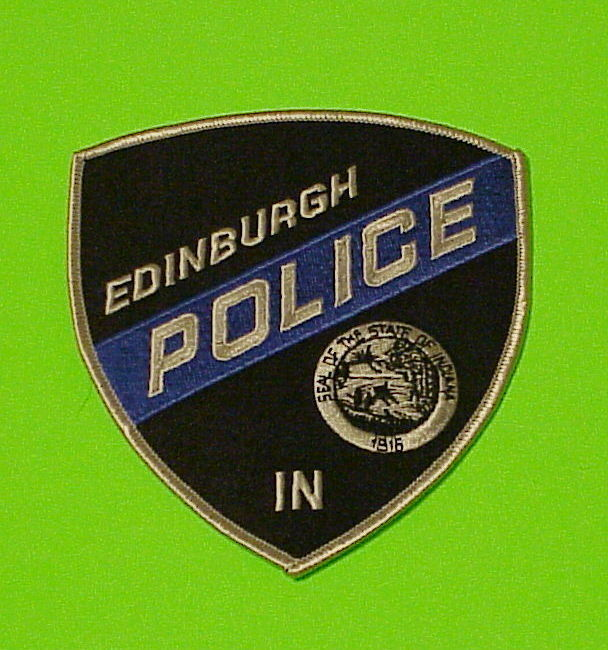 EDINBURGH  INDIANA  IN  POLICE DEPT. PATCH   FREE SHIPPING!!!