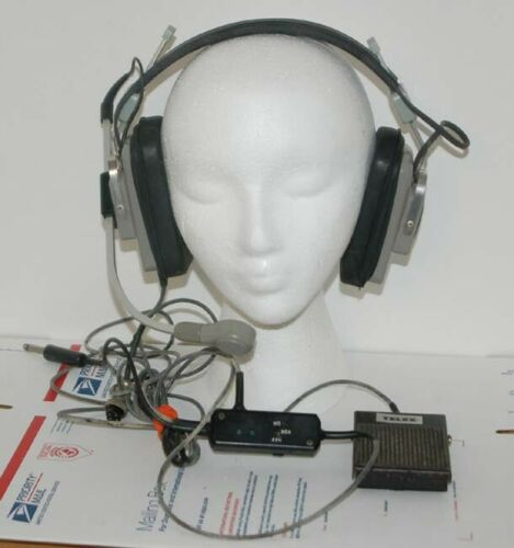 TELEX ProCom 200 Ham Amateur Radio Headset Headphones with Mic & Foot Switch