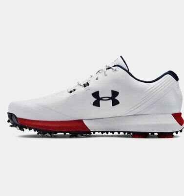 New-UnderArmour golf shoes-Size 10 UK-White/Red/Navy