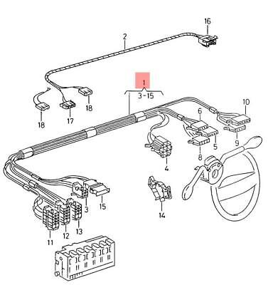 Genuine VW wiring harness for steering column combination switch 6K0971063L