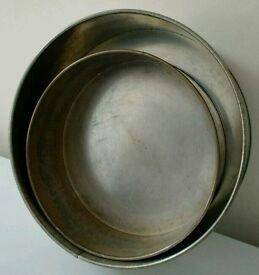 2 Round Cake Tins