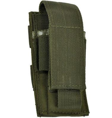 Mil-Tec Einfach Pistol Magazintasche MOLLE Mag Pouch mit Klettverschluss Oliv OD ()