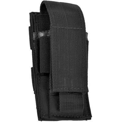 Mil-Tec Einfach Pistol Magazintasche MOLLE Mag Pouch mit Klettverschluss Schwarz ()