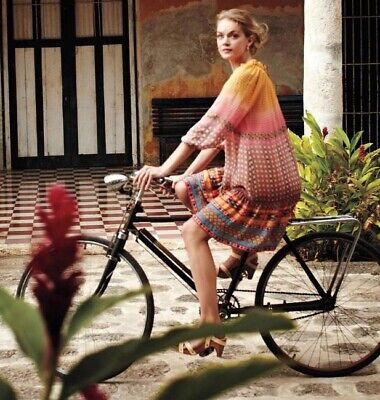 Anthr Tanvi Kedia Blushes spectrum S Midi Peasant Dress Lace Up