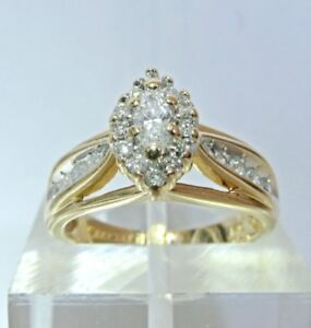 GORGEOUS 3/4CTW. MARQUISE DIAMOND RING 14K GOLD