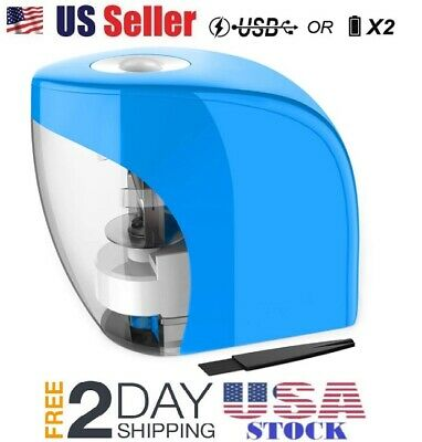 Electric Battery Operated Pencil Sharpener Desk School Office Portable Classroom