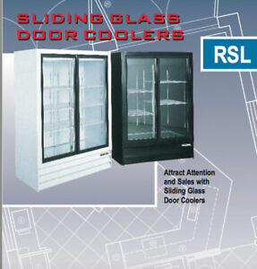 Glass Door Reach-In Fridge