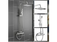Thermostatic Mixer Bar Shower with Rainfall Head